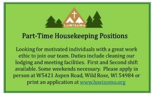 Help Wanted Housekeeping