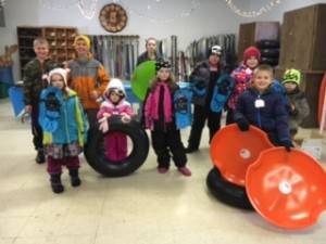 Trinity Lutheran Church of Wautoma donates equipment, has fun at camp's Winter Activity program!